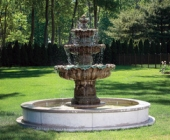 3 TIER SCALLOP FOUNTAIN ON 8\' POOL