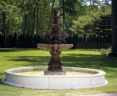 LARGE 4 TIER FOUNTAIN ON 12\' POOL