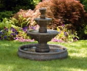 THREE TIER HARVEST POOL FOUNTAIN
