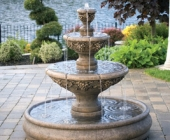 THREE TIER SONOMA POOL FOUNTAIN