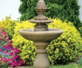 TWO TIER PINECONE FOUNTAIN