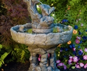 THREE TIER FROG STONE FOUNTAIN